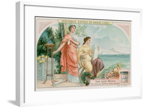Clio (History) and Calliope (Heroic Poetry)--Framed Art Print