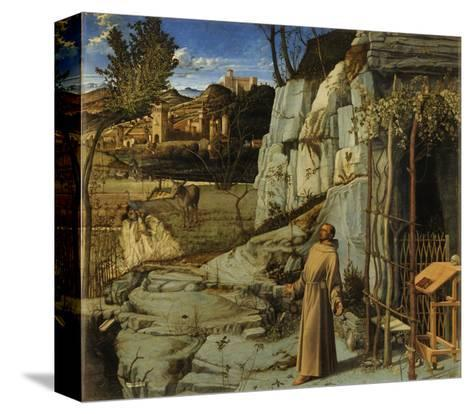 St. Francis of Assisi in the Desert, C.1480-Giovanni Bellini-Stretched Canvas Print