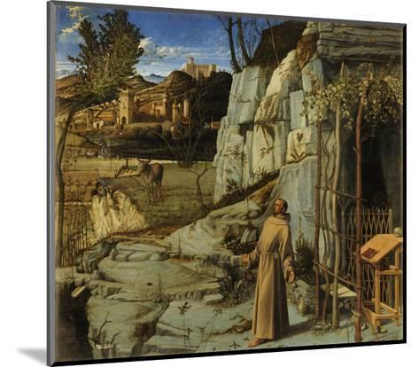 St. Francis of Assisi in the Desert, C.1480-Giovanni Bellini-Mounted Giclee Print