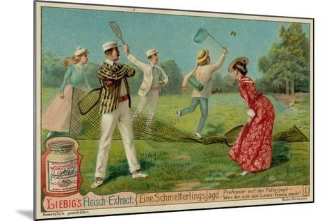 Butterfly Hunting and Lawn Tennis--Mounted Giclee Print