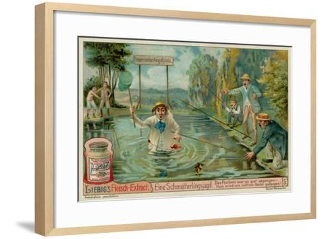 Butterfly Hunting and Fishermen--Framed Art Print