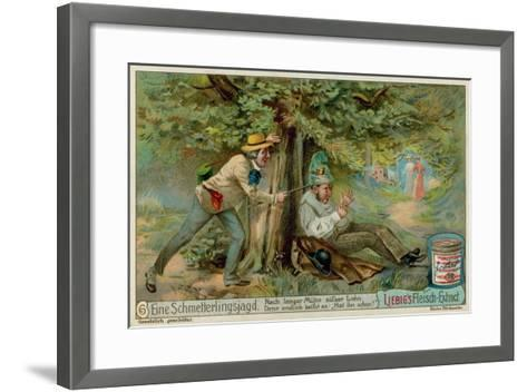 Butterfly Hunting and a Sleeper--Framed Art Print
