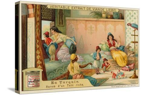 Inside the Harem of a Rich Turk--Stretched Canvas Print