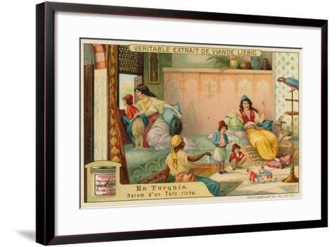 Inside the Harem of a Rich Turk--Framed Art Print