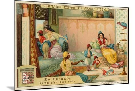 Inside the Harem of a Rich Turk--Mounted Giclee Print