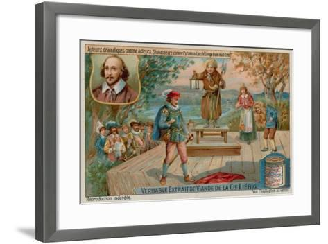 William Shakespeare in a Midsummer Night's Dream--Framed Art Print