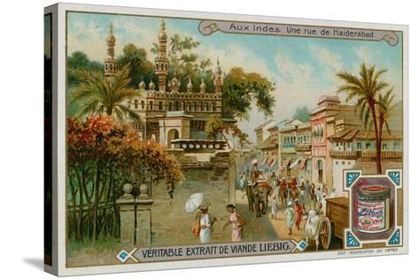 View of a Street in Hyderabad--Stretched Canvas Print