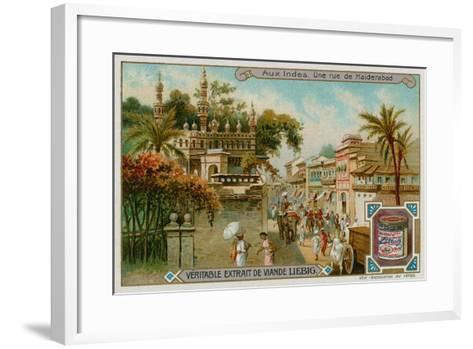 View of a Street in Hyderabad--Framed Art Print