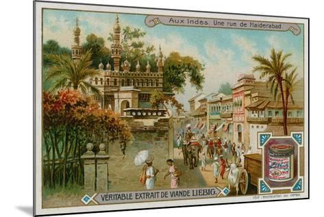 View of a Street in Hyderabad--Mounted Giclee Print