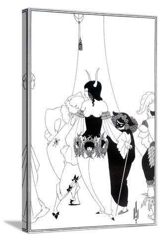 """Illustration for """"The Masque of the Red Death"""" by Edgar Allan Poe, 1895-Aubrey Beardsley-Stretched Canvas Print"""