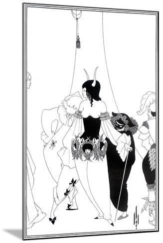 """Illustration for """"The Masque of the Red Death"""" by Edgar Allan Poe, 1895-Aubrey Beardsley-Mounted Giclee Print"""
