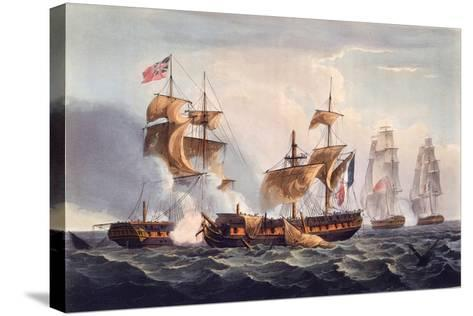 Capture of La Minerve, Print Made by Thomas Sutherland, from 'The Naval Achievements of Great…-Thomas Whitcombe-Stretched Canvas Print