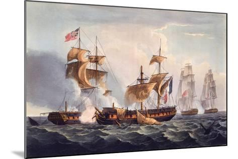 Capture of La Minerve, Print Made by Thomas Sutherland, from 'The Naval Achievements of Great…-Thomas Whitcombe-Mounted Giclee Print