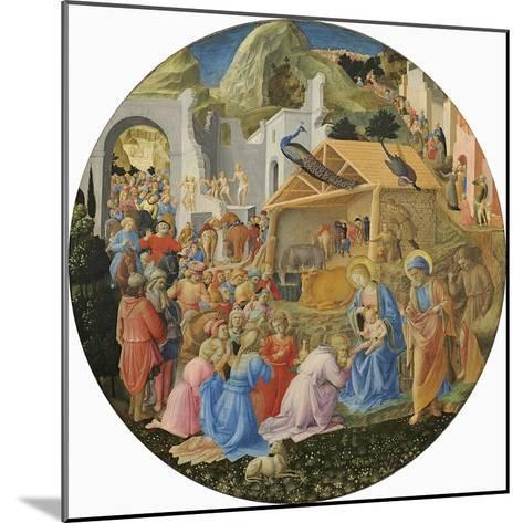 The Adoration of the Magi, C.1440-60-Fra Angelico-Mounted Giclee Print