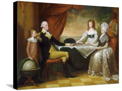 The Washington Family, 1789-1796-Edward Savage-Stretched Canvas Print