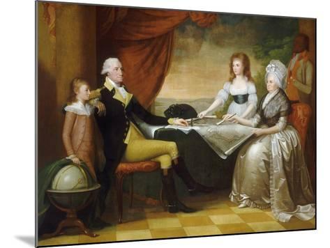 The Washington Family, 1789-1796-Edward Savage-Mounted Giclee Print