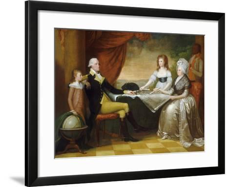 The Washington Family, 1789-1796-Edward Savage-Framed Art Print