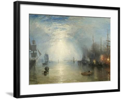 Keelmen Heaving in Coals by Moonlight, 1835-J^ M^ W^ Turner-Framed Art Print