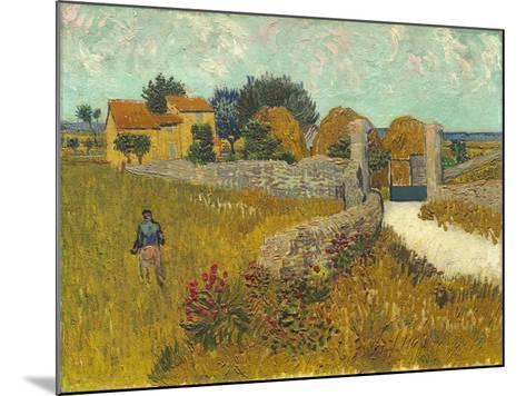 Farmhouse in Provence, 1888-Vincent van Gogh-Mounted Giclee Print