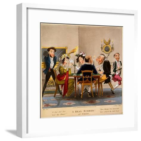 A Real Rubber! at Whist, Print Made by George Hunt, 1827-M. Egerton-Framed Art Print