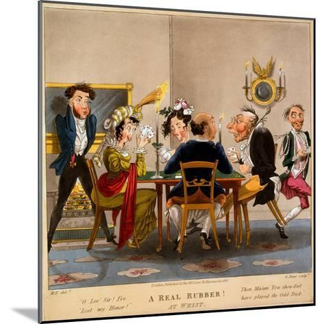 A Real Rubber! at Whist, Print Made by George Hunt, 1827-M. Egerton-Mounted Giclee Print