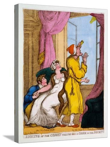 Looking at the Comet Till You Get a Criek in the Neck, 1811-Thomas Rowlandson-Stretched Canvas Print