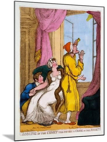 Looking at the Comet Till You Get a Criek in the Neck, 1811-Thomas Rowlandson-Mounted Giclee Print