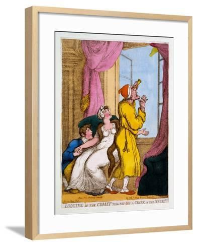 Looking at the Comet Till You Get a Criek in the Neck, 1811-Thomas Rowlandson-Framed Art Print