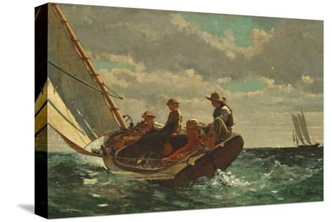 Breezing Up (A Fair Wind) 1873-76-Winslow Homer-Stretched Canvas Print