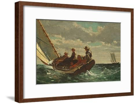 Breezing Up (A Fair Wind) 1873-76-Winslow Homer-Framed Art Print