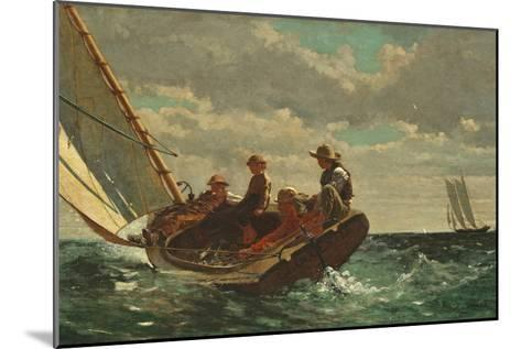 Breezing Up (A Fair Wind) 1873-76-Winslow Homer-Mounted Giclee Print
