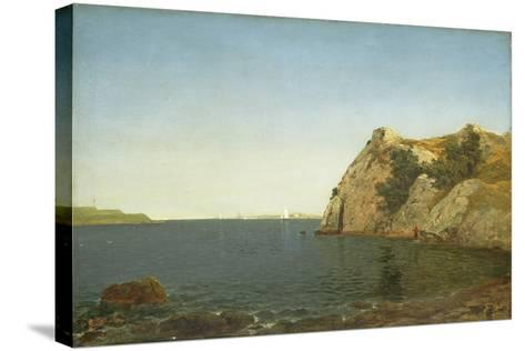 Beacon Rock, Newport Harbour, 1857-John Frederick Kensett-Stretched Canvas Print