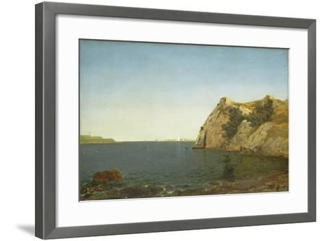 Beacon Rock, Newport Harbour, 1857-John Frederick Kensett-Framed Art Print