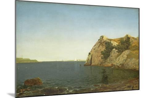 Beacon Rock, Newport Harbour, 1857-John Frederick Kensett-Mounted Giclee Print