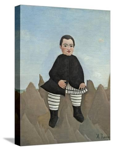 Boy on the Rocks, 1895-97-Henri Rousseau-Stretched Canvas Print
