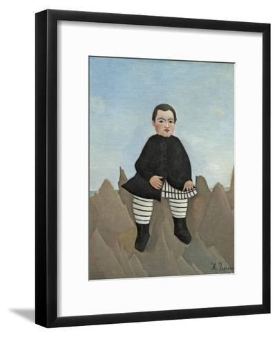 Boy on the Rocks, 1895-97-Henri Rousseau-Framed Art Print