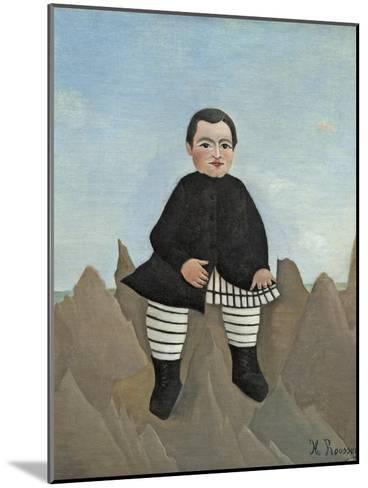Boy on the Rocks, 1895-97-Henri Rousseau-Mounted Giclee Print