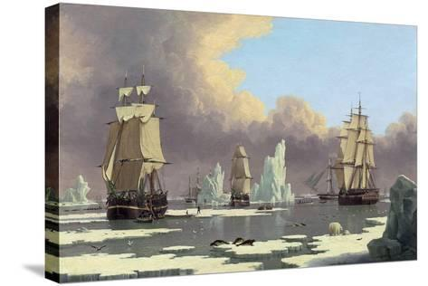 "The Northern Whale Fishery: the ""Swan"" and ""Isabella"", C. 1840-John Of Hull Ward-Stretched Canvas Print"