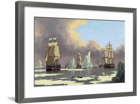 "The Northern Whale Fishery: the ""Swan"" and ""Isabella"", C. 1840-John Of Hull Ward-Framed Art Print"