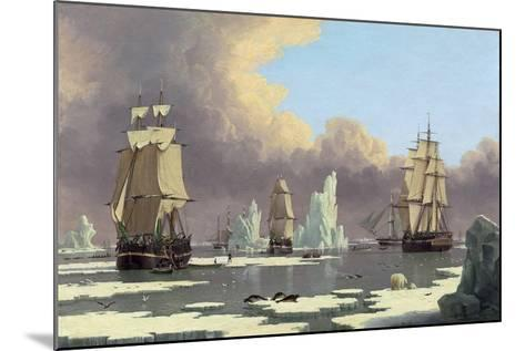 "The Northern Whale Fishery: the ""Swan"" and ""Isabella"", C. 1840-John Of Hull Ward-Mounted Giclee Print"