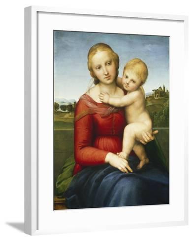 The Small Cowper Madonna, C.1505-Raphael-Framed Art Print