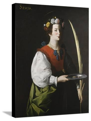 Saint Lucy, C.1625-1630-Francisco de Zurbar?n-Stretched Canvas Print