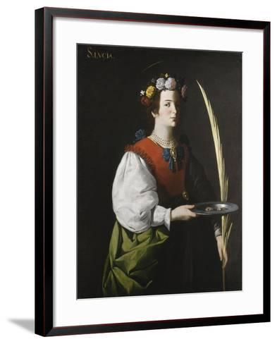 Saint Lucy, C.1625-1630-Francisco de Zurbar?n-Framed Art Print