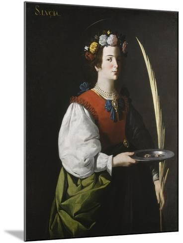 Saint Lucy, C.1625-1630-Francisco de Zurbar?n-Mounted Giclee Print