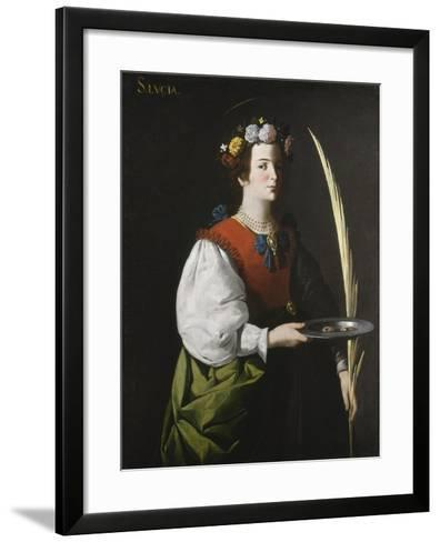 Saint Lucy, C.1625-1630-Francisco de Zurbar?n-Framed Art Print