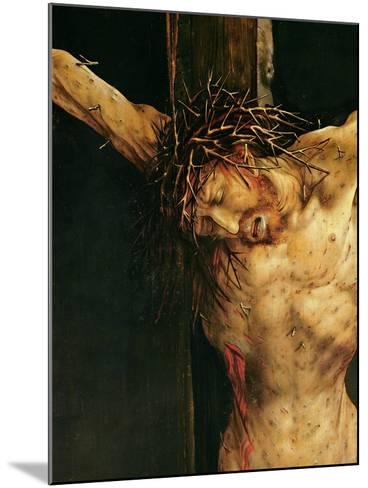 Christ on the Cross, Detail from the Central Crucifixion Panel of the Isenheim Altarpiece,…-Matthias Gr?newald-Mounted Giclee Print