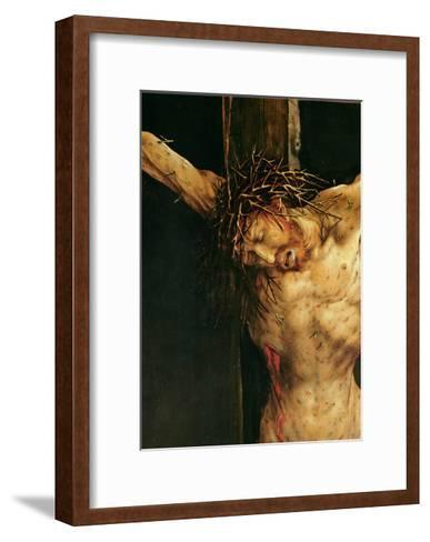 Christ on the Cross, Detail from the Central Crucifixion Panel of the Isenheim Altarpiece,…-Matthias Gr?newald-Framed Art Print