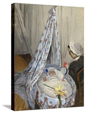 The Cradle, Camille with the Artist's Son Jean, 1867-Claude Monet-Stretched Canvas Print