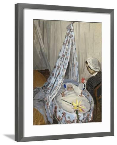The Cradle, Camille with the Artist's Son Jean, 1867-Claude Monet-Framed Art Print