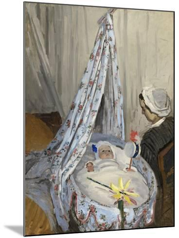 The Cradle, Camille with the Artist's Son Jean, 1867-Claude Monet-Mounted Giclee Print